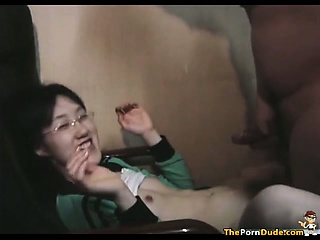 Asian Virgin Fucks A Cock Be..