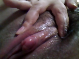 my asian hairy pussy (clit..