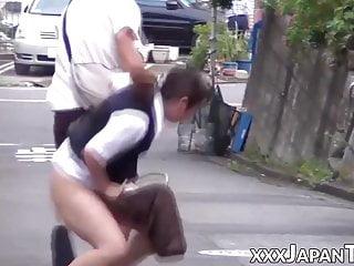 Unassuming Japanese women in..