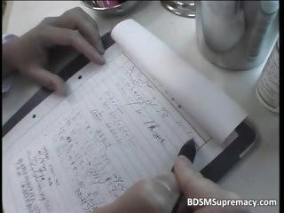 BDSM body cross-examination..