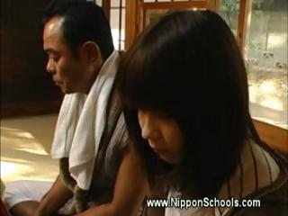Japanese teen carest by..