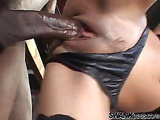 Intensive interracial sex..