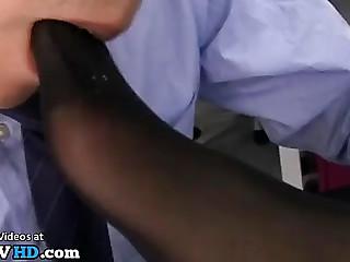 Jav female boss foot fetish..
