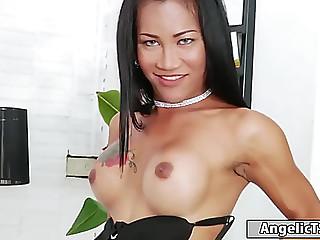 Breasty thai tranny ploy..