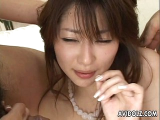 Hairy pussy Asian babe with..