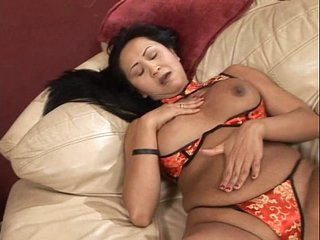 Hot asian milf solo fucking