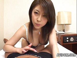 Asian handjob with a pinch..
