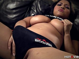 Naturally Busty Asian has..