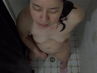 Asian MILF - Showering &..