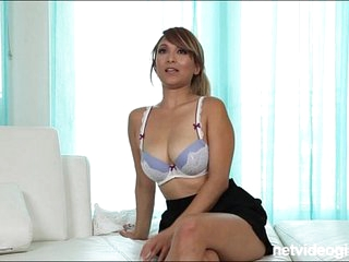 Blonde amateur asian with..
