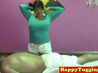Real fat asian masseuse..