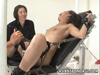Bound Asian handles sex..
