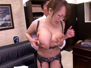 Asian with huge boobs -..