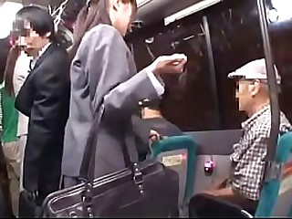 Asian student sex in bus