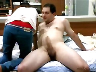 Interracial blowjob by a..
