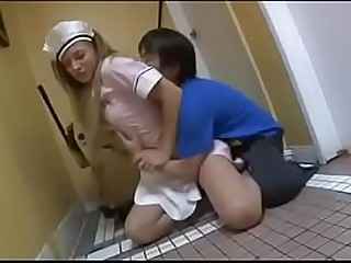 Asian guy forces blonde babe..