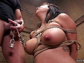Asian slave with big tits..