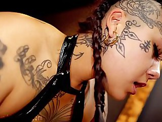 Asian Domintrix Makes Slave..