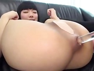 Asian anal dildo Super hot