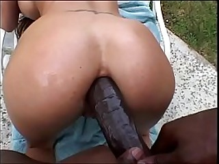Busty Asian loves a big..