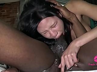 Slutty Asian Gagging to..