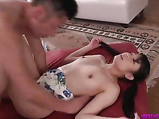 Misaki spreads legs for..