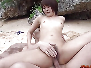 Naughty outdoor group sex..