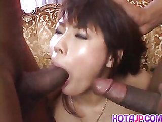 Masami Abe sucks dicks in..