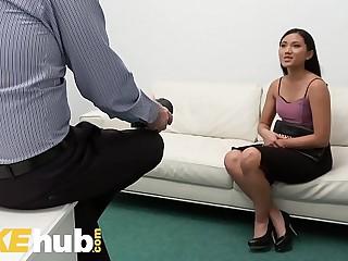 Fake Agent Petite Asian Babe..