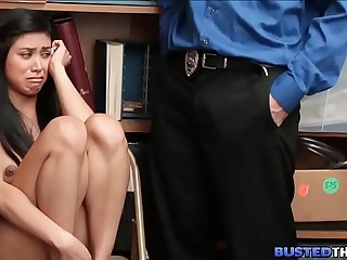 Asian Teen Caught and Fucked..