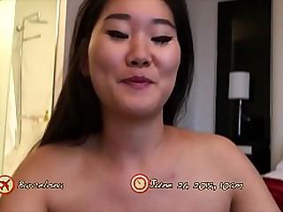 Pale Asian slut fucked Doggy..