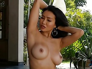 Asian model with big tits..