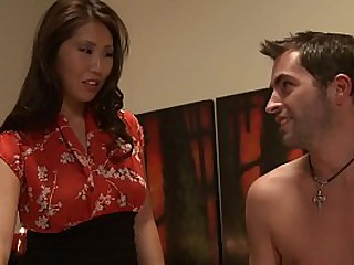 Big Tits Asian Masseuse..