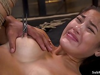 Hairy pussy busty Asian..