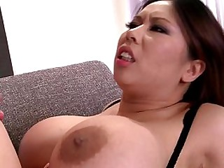 Hot Asian bombshell with big..