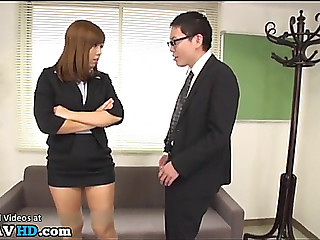 Japanese secretary dominates..