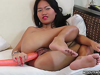 Her big toy slides so easily..